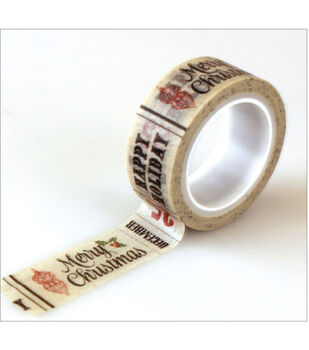 Christmas Time Decorative Tape-Christmas Words