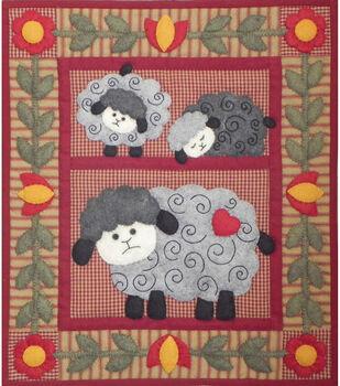 """Twin Lambs Quilt Kit-13""""X15"""""""