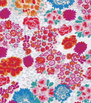 Snuggle Flannel Fabric-Floral Leopard