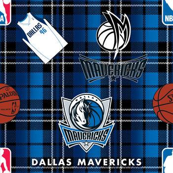 Dallas Mavericks NBA Plaid Fleece Fabric