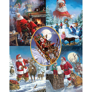 White Mountain Puzzles Jigsaw Puzzle Santa's Big Night