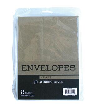 Leader Paper Products 25pcs A7 Envelopes-Kraft