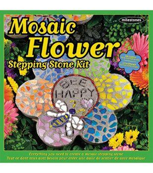 Mosaic Flower Stepping Stone Kit
