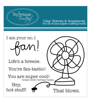 Technique Tuesday Clear stamps Fan-Tastic