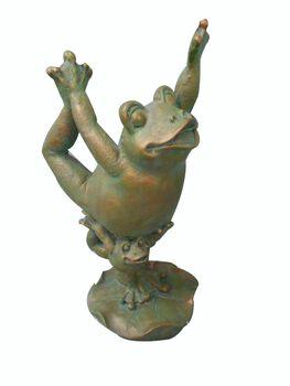 Resin Yoga Frog King Dancer Pose Figurine