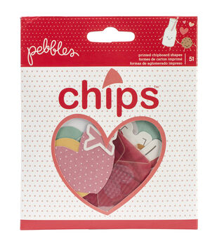 We Go Together Chips Vellum & Chipboard Die-Cuts 51/Pkg-Shapes