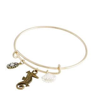 Finished Bracelet Seashorse - Silver