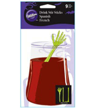 Drink Stirrer 9/Pkg-Bones