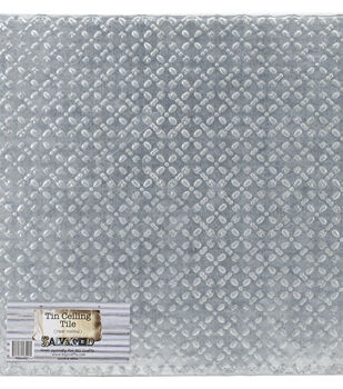 Salvaged Tin Diamond Ceiling Tile