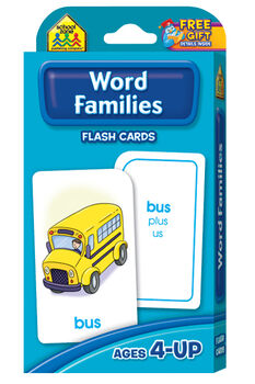Flash Cards-Word Families 54/Pkg