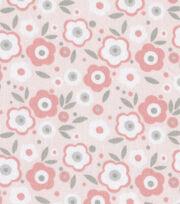 Nursery fabric babybasics chevron print jo ann for Pink and grey nursery fabric