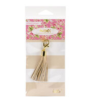 Webster's Pages Tassel Charm Embellishment-Gold, , hi-res