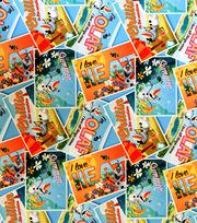 Disney Frozen Olaf Postcard Toss Twill Fabric, , hi-res
