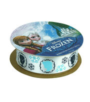 "Frozen Ribbon 7/8""x9'-Characters White, , hi-res"