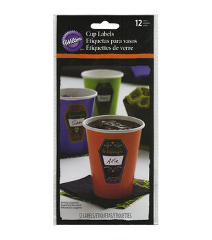 Wilton® Cup Labels 12/Pkg-Deadly Soiree