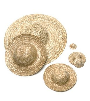 Darice Round Straw Top Hat 18""