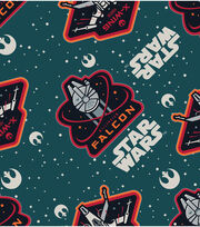 Star Wars VII Ships Flannel Fabric, , hi-res