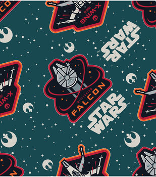 Star Wars VII Ships Flannel Fabric
