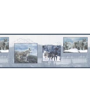 Wolf Pack Blue Wolf Wallpaper Border