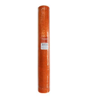 Blooming Autumn Mesh Ribbon 21''x30'-Orange