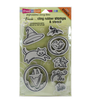 Stampendous® Fran's Cling Stamp & Stencil Set-Create Fall Set