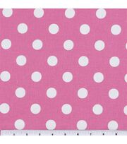 Keepsake Calico™ Cotton Fabric-Large Dots On Rose Pink, , hi-res