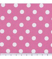 Keepsake Calico™ Cotton Fabric-Large Dots On Rose Pink, , hi-res