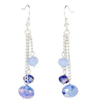 Chain Three Drop Earring Blue