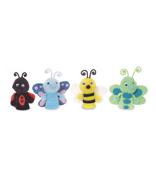 Darice Foam & Felt Kit-12PK/Bug Finger Puppets