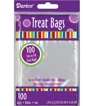 "3""x4-3/4"" Treat Bags-100PK/Clear"