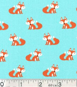 Novelty Cotton Fabric-Sitting Fox