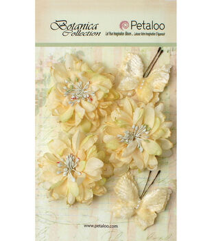 Petaloo Botanica 5pcs Mums & Butterflies