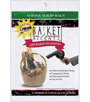 Shrink Wrap Bags Medium 24x30 2PK-Clear