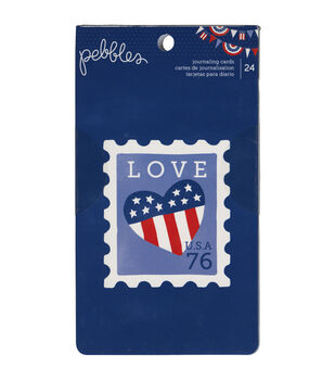 Pebbles Double-Sided Journal Cards 7''x4''
