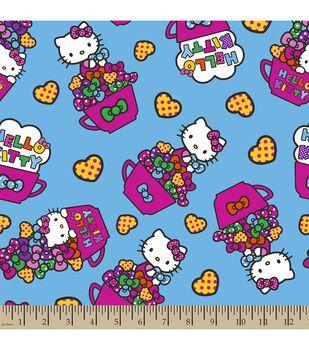 Sanrio Hello Kitty Tea Cups Cotton Fabric