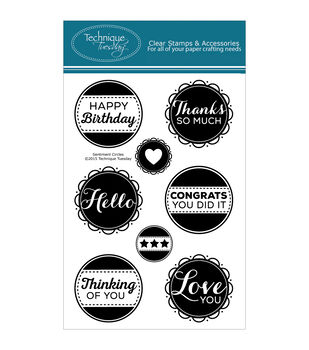Technique Tuesday Sentiment Circles Clear Stamps