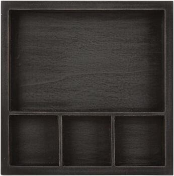 "Solo Shadowbox Tray 6""X6""-Black, Holds (1) 6""X4""&(3) 2""X2"" Photo"