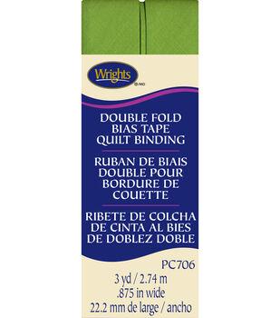 Double Fold Quilt Binding 3 Yd Leaf Grn