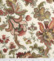 Legacy Studio Cotton Fabric-Hampton Court Jacobean Floral Tan, , hi-res