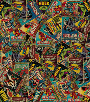 Marvel Retro Comic Cotton Fabric