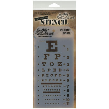 Stampers Anonymous Tim Holtz Layered Stencil Eye Chart
