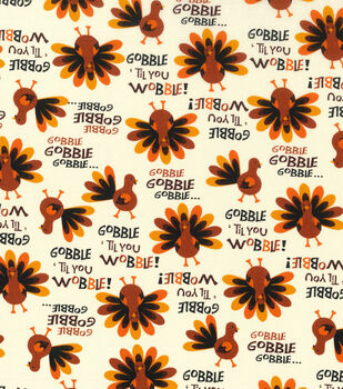 Autumn Inspirations Fabric-Gobble Til You Wobble