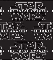 Star Wars VII Logo Black Cotton Fabric, , hi-res