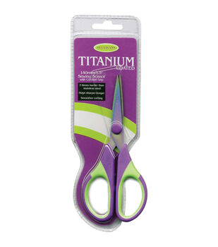Sullivans 5.5'' Titanium Sewing Scissors-Purple & Green