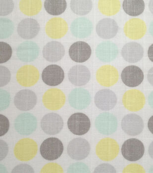 Nursery Fabric-Blue/Yellow Dot Swaddle