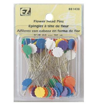 Flower Head Pins-75/Pkg