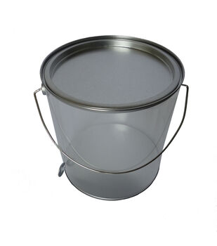 Tin Large Paint Can- Silver