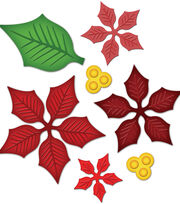 Spellbinders Shapeabilities Dies-Layered Poinsetta, , hi-res