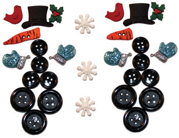 Dress It Up Holiday Embellishments-Building A Snowman