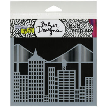 """Crafter's Workshop Templates Cityscape 6"""" x 6"""""""